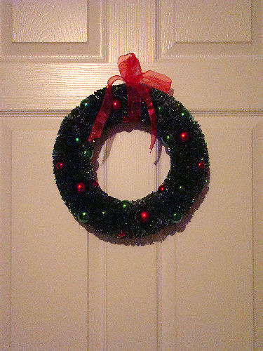 bottle brush wreath