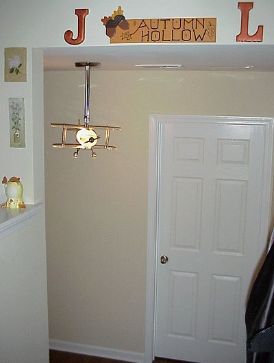 airplane lamp in hall