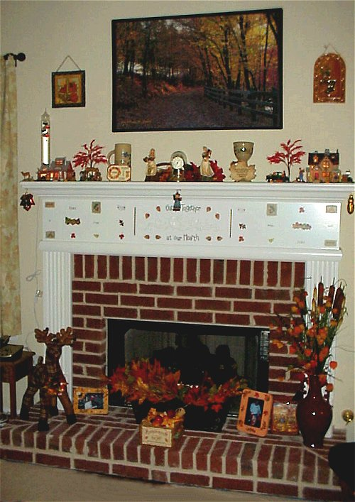 Autumn fireplace area