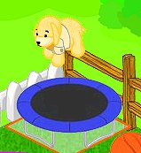 Cubby on trampoline