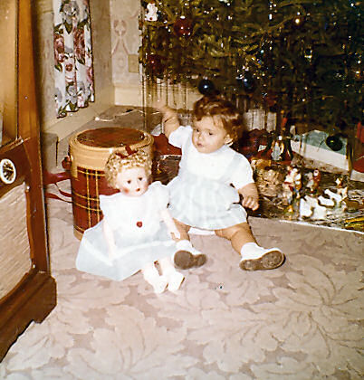 Me with my first doll.
