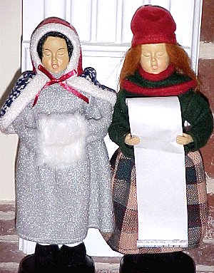 Diana Barry and Anne Shirley sing Christmas carols