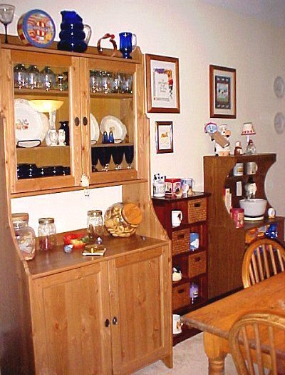 china cabinet, curio cabinet, and microwave cabinet