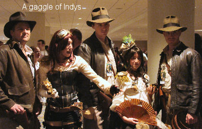 A gaggle of Indiana Joneses