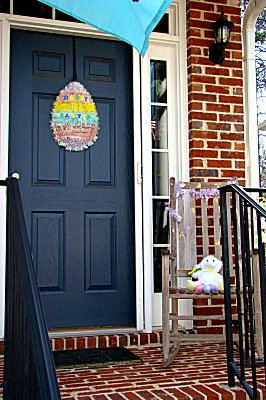 Egg door greeting and lamb