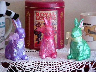 foil bunnies