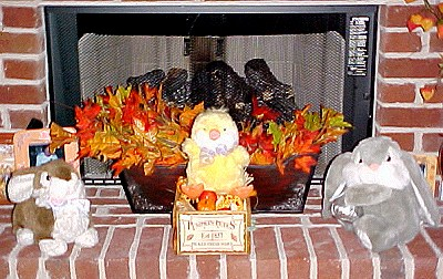 Easter fireplace