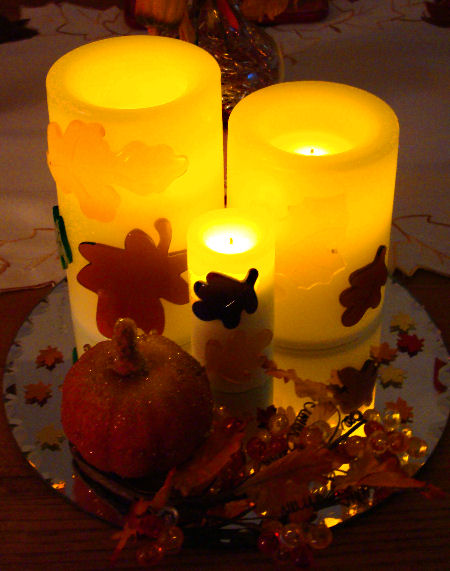 Fall candle arrangement