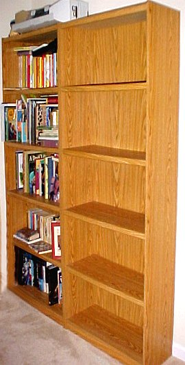 icky oak bookcases
