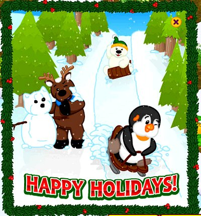 Webkinz 2007 Christmas card