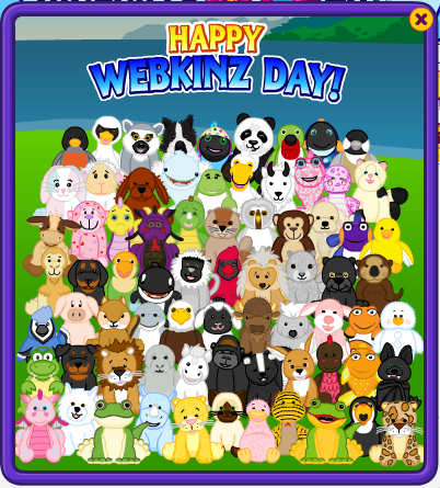 Webkinz Day card