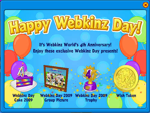Webkinz Day gifts