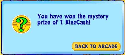 1 KinzCash prize