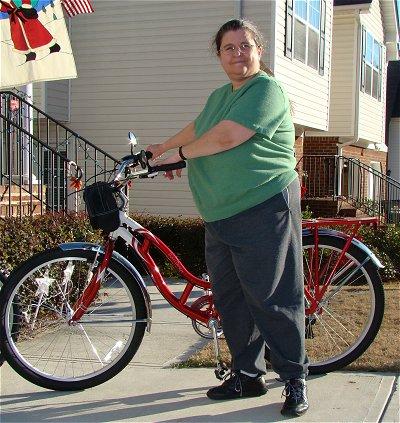 Linda and bicycles