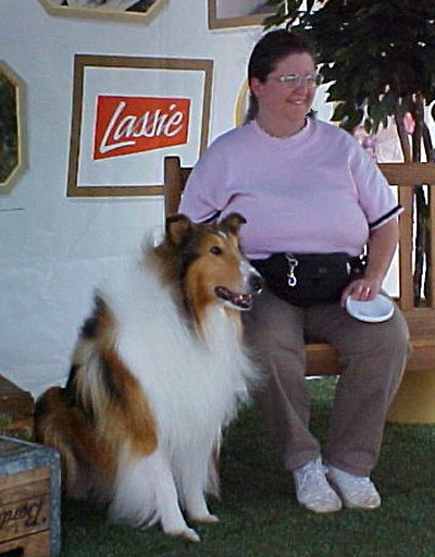 I pose with Lassie