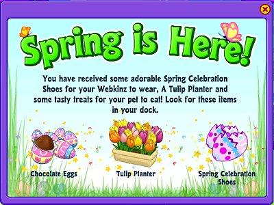 Spring gift announcement