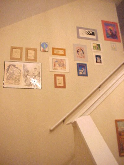 artwork on stairway
