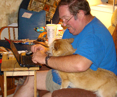 James typing with Willow interfering