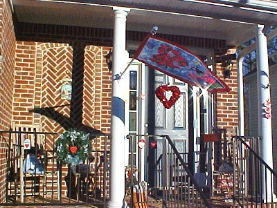 porch decked in Valentines