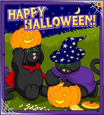 Webkinz Halloween card